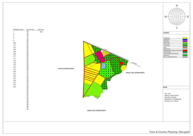 Bakul Maj Gaon Map