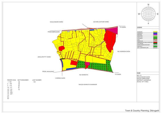 Khalihamari Gaon Map