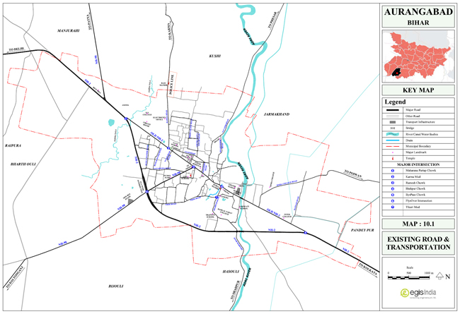 Aurangabad Existing Roads and Transportation