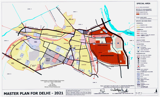 Delhi Special Area Master Plan Map