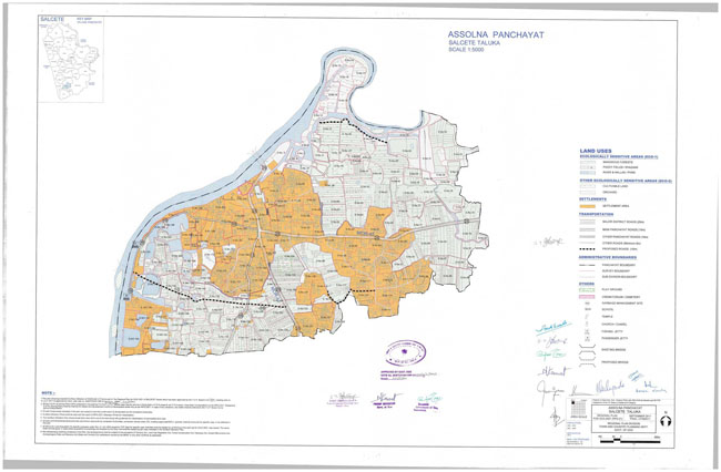 Assolna Salcette Regional Development Plan Map