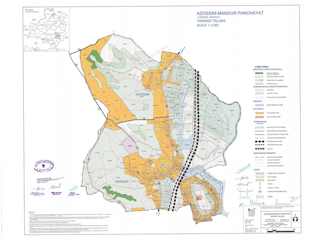 Azossim Mandur Tiswadi Regional Development Plan Map