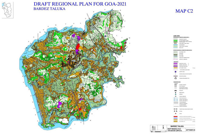 Bardez Taluka Regional Development Plan 2021 Map
