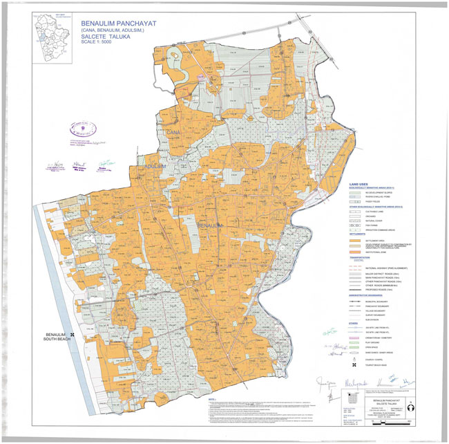 Benaulim Salcette Regional Development Plan Map