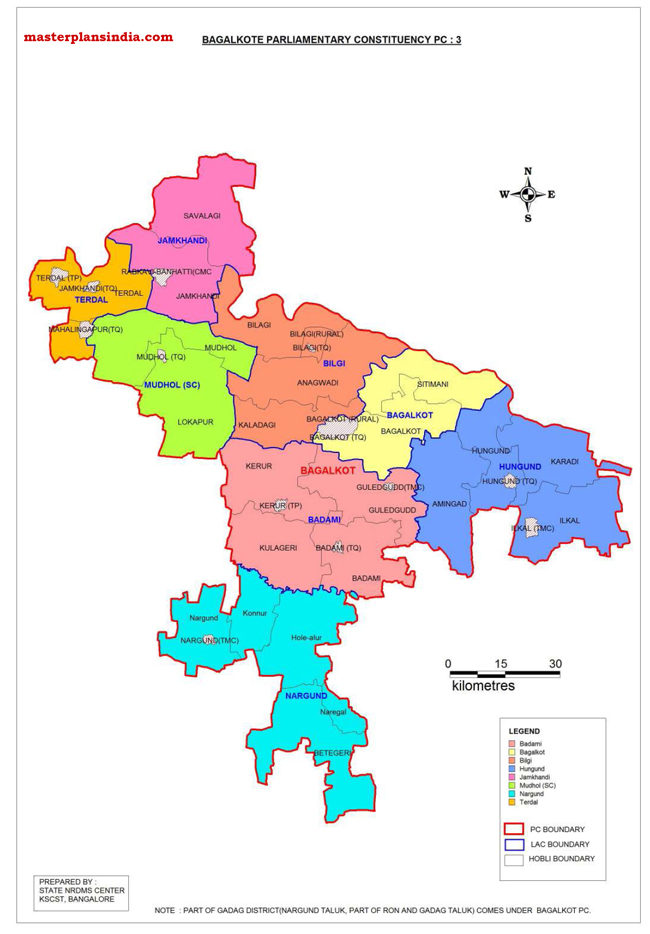 Bagalkote Parliamentary Constituency Map