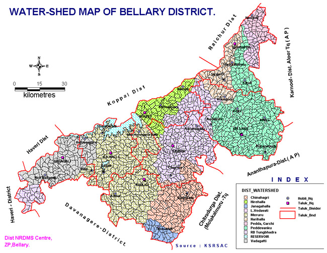Bellary Water Shed Map