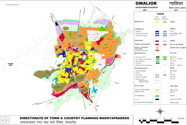 Gwalior Development Plan 2021 Map Draft