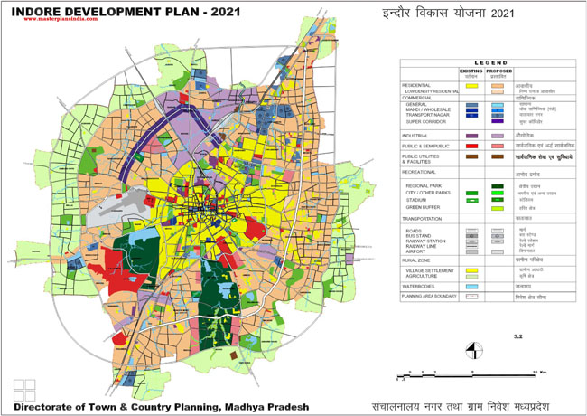 Indore Master Development Plan 2021 Map