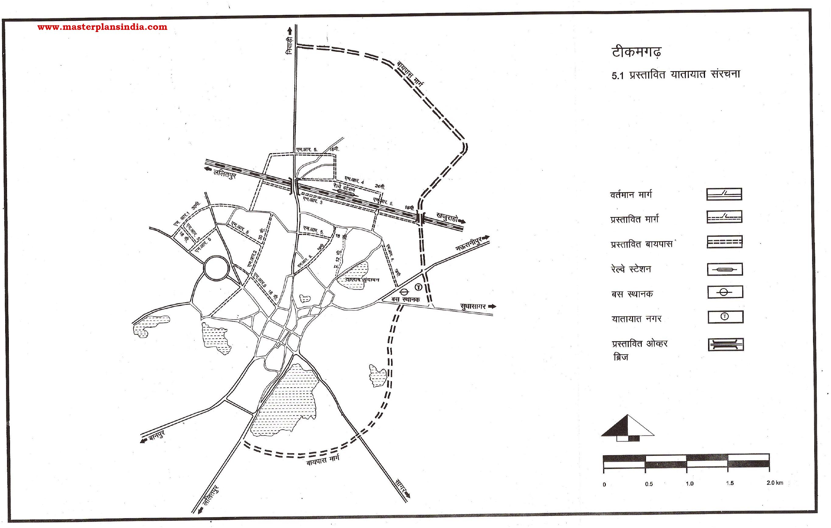 Tikamgarh Proposed Transportation Pattern PDF Download