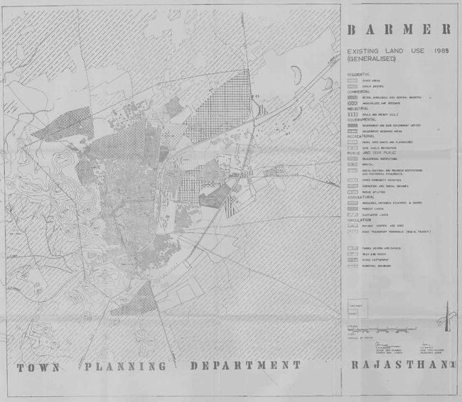Barmer Existing Land Use 1985 Map
