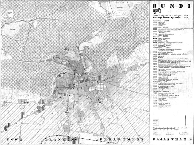 Bundi Existing Land Use 2008 Map