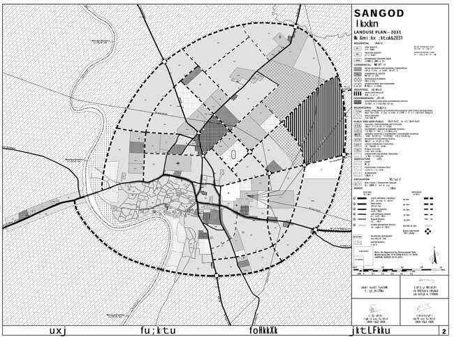 Sangod Master Development Plan 2023 Map