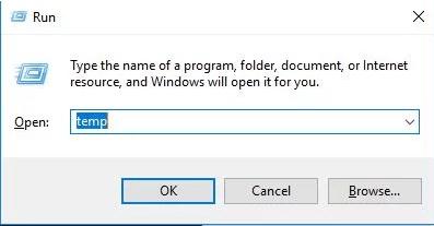 Clean temp Files