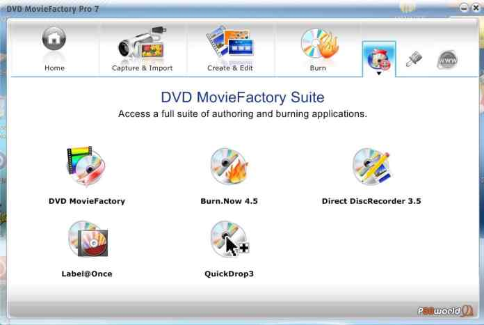 DVD MovieFacotry Pro 7