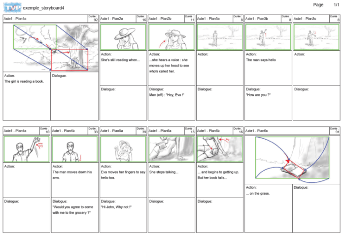 export - share storyboards
