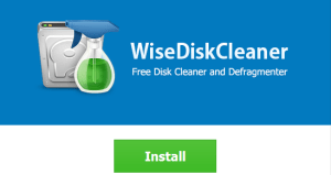 Wise Disk Cleaner install