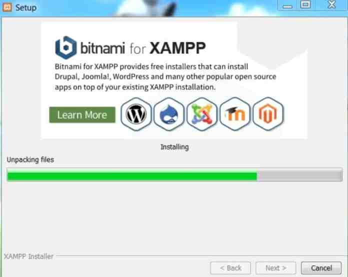 xampp_unpacking_files