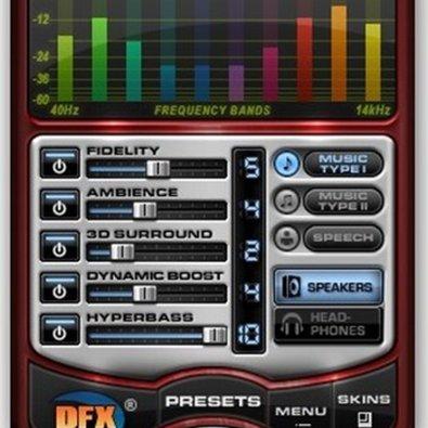 DFX Audio Enhancer-equilizer