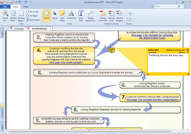 Nitro PDF reader file