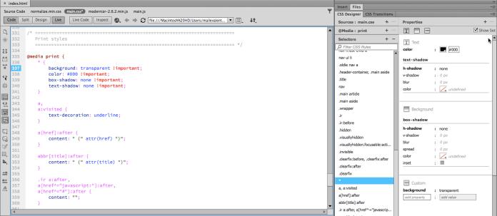 Adobe Dreamweaver CSS