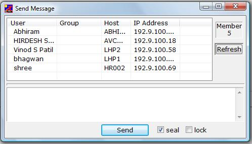 IP Messenger-send msg
