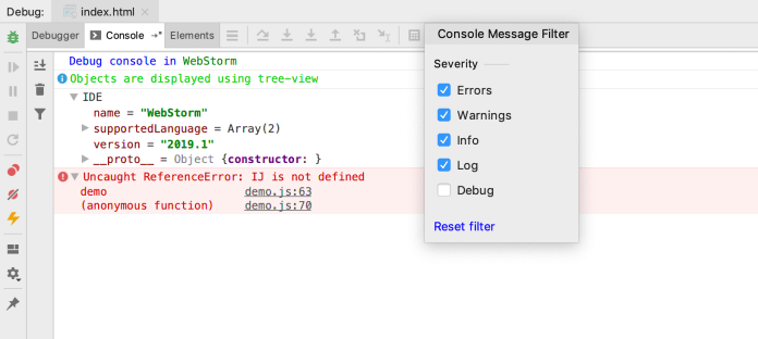 WebStorm-debug-console