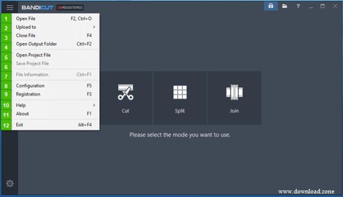 Bandicut Video Cutter Merge feature