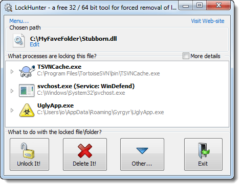lock hunter supports 32 bit and 64 bit