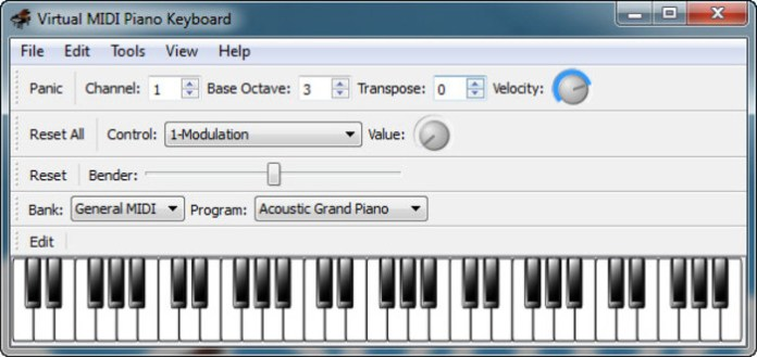 Virtual MIDI Piano Keyboard VMPK all features
