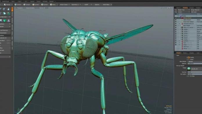 Modo-3D-Modeling-Software-showing-UV-Workflow