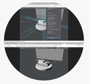 LightWave 3D Software showing New OpenGL Viewport Option