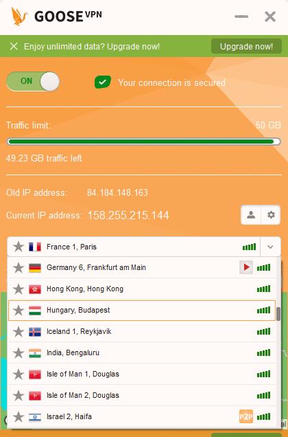 GOOSE-VPN-Software-showing-display-screen