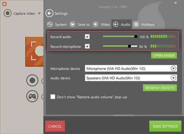 Icecream Screen Recorder-sound recording