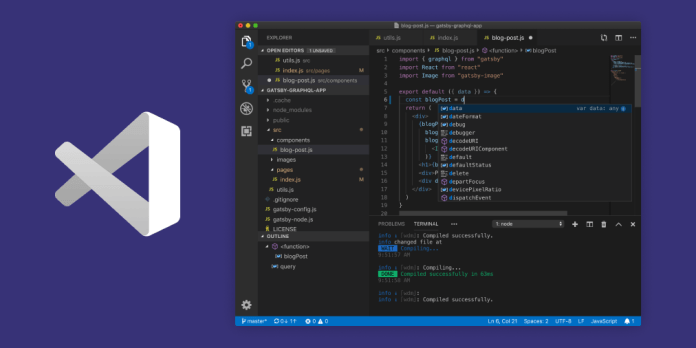 Visual-Studio-code-editor-Application-showing-display-screen