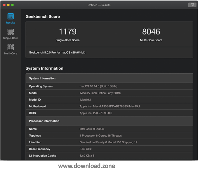 geekbench downlaod -multi threaded benchmarks