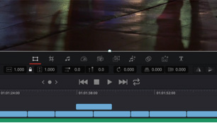 davinci resolve for windows software showing stabilize feature
