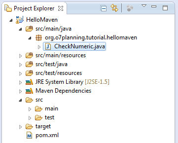 Maven Project explorer