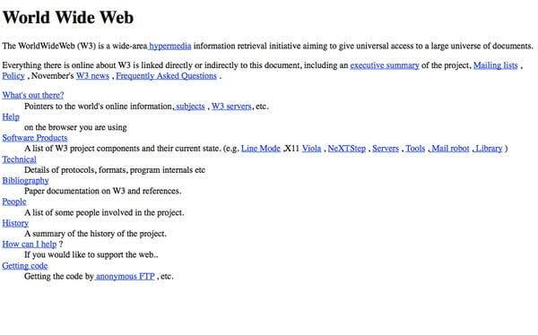 2nd website ever in the internet history - world wide lab virtual library