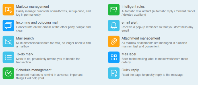 DreamMail Email Client Features
