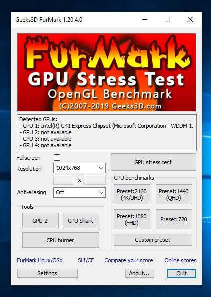 GPU Stress Test Software