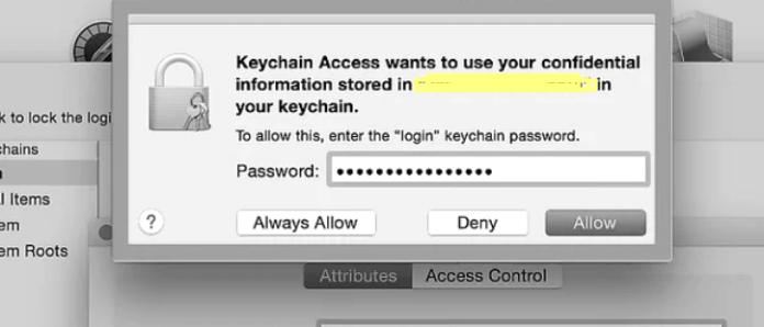 Check your password in this dialog box