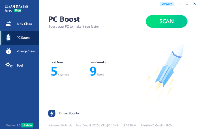 PC Boost Clean Master For PC