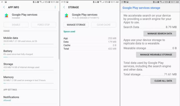 Google Play Service App Info
