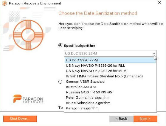 data sanitization method with specific algorithm
