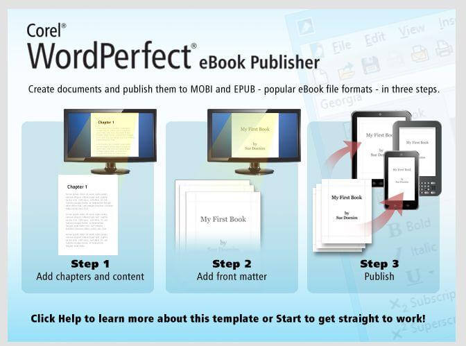 Corel WordPerfect eBook Publisher - Word Processing Software