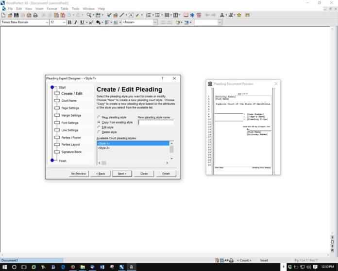 Create Edit Pleading