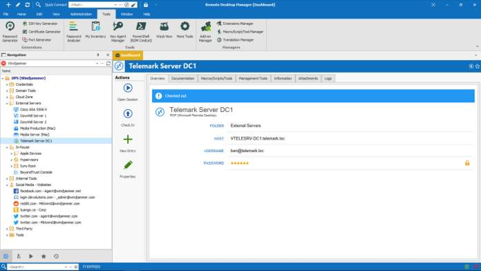 Remote Desktop manager- Task Server