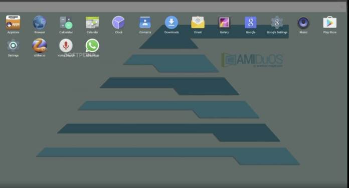 Amiduos pro menu of Android Emulator For PC
