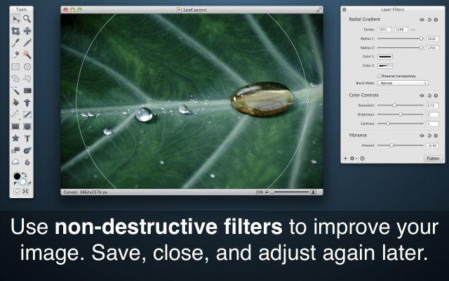 destructive filters of images