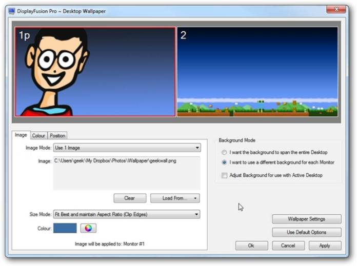 Manage wallpaper with desktop enhancement software